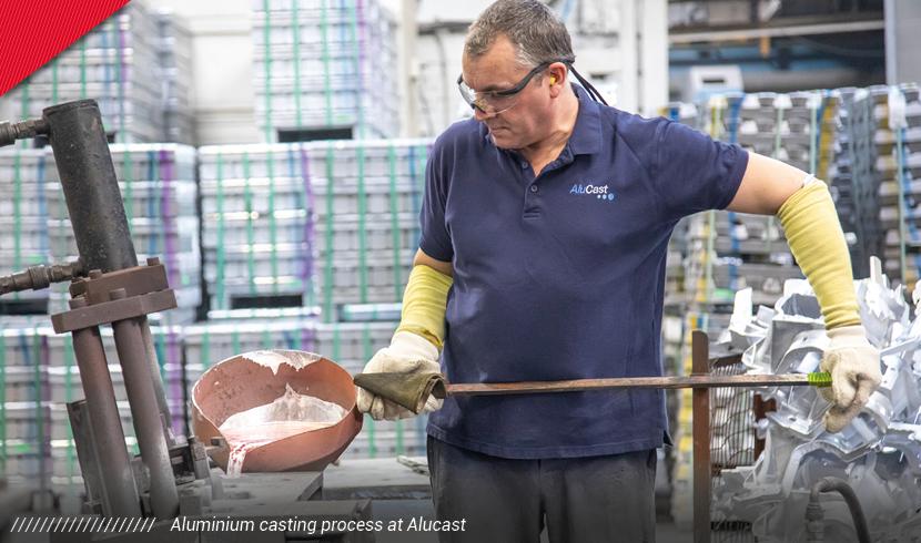 aluminium casting electrification process