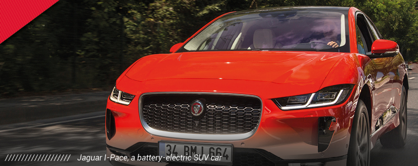 electrification electric car jlr banner